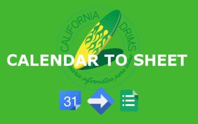 Calendar To Sheet
